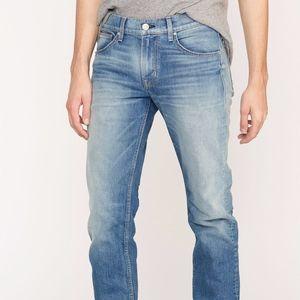 Hudson Jeans Men's Byron Straight Zip Light Wash